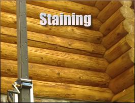Log Home Staining  Highland County, Ohio